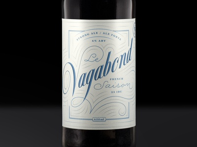 Saison packaging label beer lettering typography