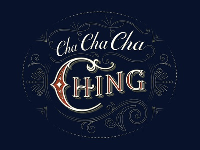 Cha Ching typography lettering