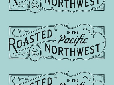 Roasted illustration typography lettering