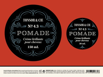 Pomade barbershop typography packaging