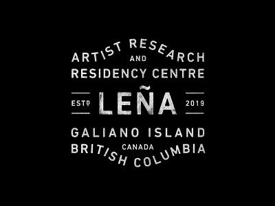 Leña badge branding typography