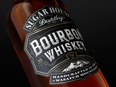 Bourbon typography whiskey packaging lettering label illustration branding bourbon