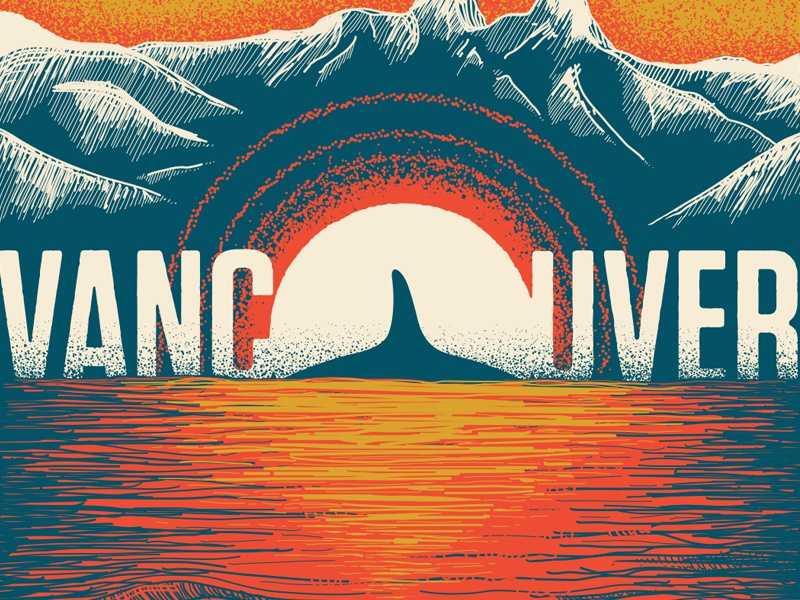 Vancouver typography illustration