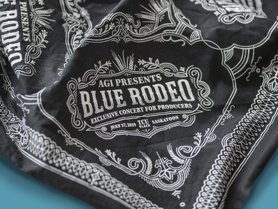 Blue Rodeo branding illustration lettering typography