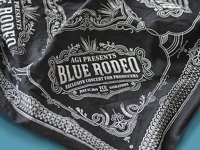 Blue Rodeo branding illustration lettering typography