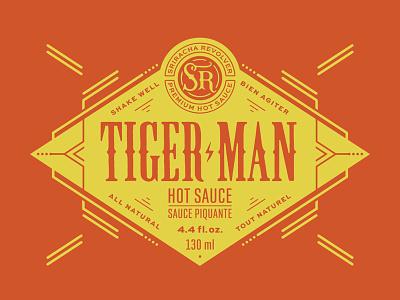 Hot sauce label badge logo label branding packaging lettering typography