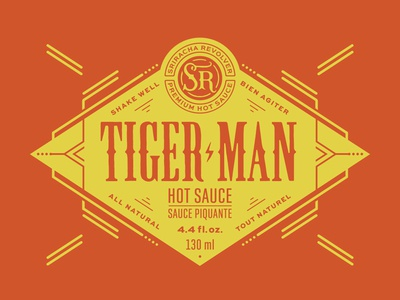 Hot sauce label badge logo label branding packaging lettering typography