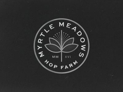 Myrtle Meadows badge logo branding illustration typography