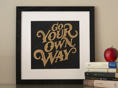 Go your own way - Lettering linocut go your own way fleetwood mac linoprint linoleum lettering lettering art carving lettering artist printmaker printmaking linocut