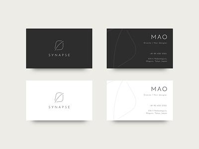 SYNAPSE BUSINESS CARD branding personal hair salon idea synapse card business card typography logo illustration illustrator vector design flat