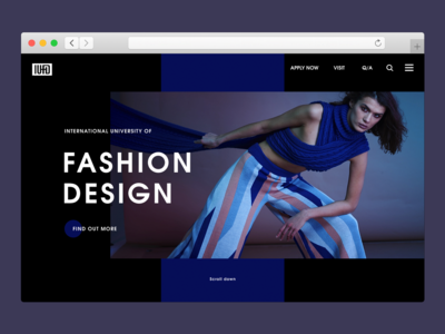 Fashion Design School Website