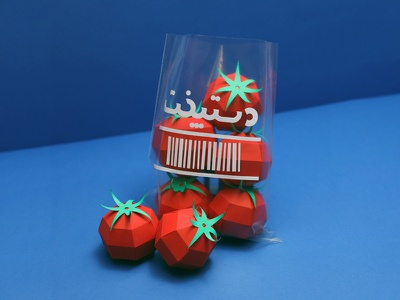 Tomato Paper Food craft low poly lowpoly paper tomato paper paper art tomato paper food paper craft papercraft papercut