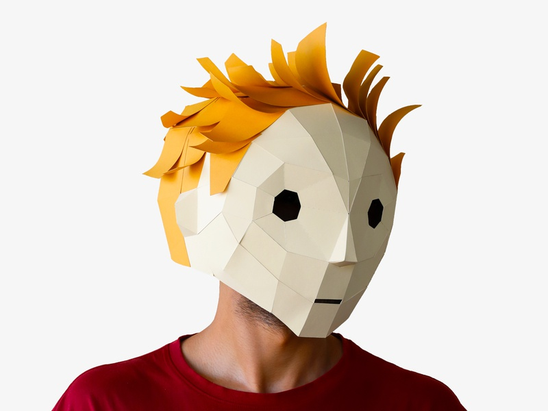 The little prince Mask craft low poly masks mask paper craft paper art papercut papercraft paper low-poly lowpoly little prince