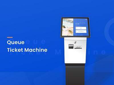 Queue Ticket Machine ui indonesia designer machine kiosk illustration design