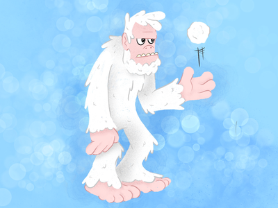 Mythical Creatures Series: Abominable Snowman doodle illustration cartoon drawing ios procreate ipad pro yeti abominable snowman abominable snowman
