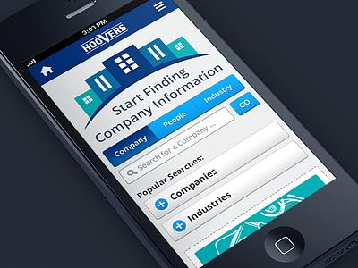 Mobile / Tablet Website design home iphone marketing mobile responsive search tablet tabs ui ux website