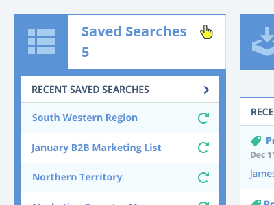 Dropdown List dropdown list hover rollover ui ux design product saved searches refresh personilization