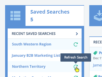 Tooltip tooltip refresh product ui ux design hover rollover saved searches list