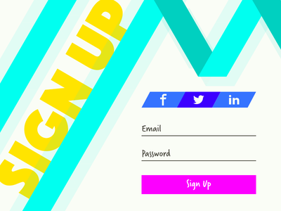 Daily UI 001 - Sign Up Page neon 001 dailyui daily ui sign up
