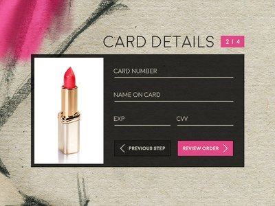 Daily UI 001 - Credit Card Checkout feminine checkout credit card 002 dailyui daily ui