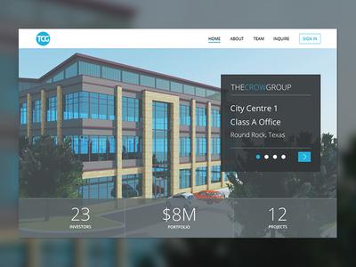 Home Page data points jumbotron hero carousel visual design marketing home