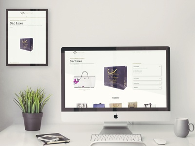 Product website for client Bag Image