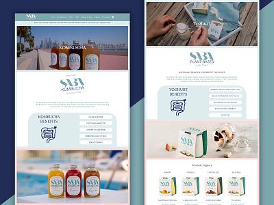 Saba Plant Based Product Page wordpress development wordpress design web development web developer website design web design webdesign website