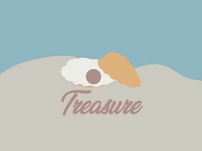 Inktober branding day 21 : Treasure branding brand logo pearl graphic vector illustrator inktober treasure