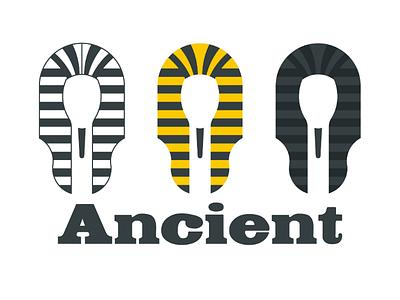 Inktober logo day 23 : Ancient branding logo brand illustrator vector egypt pharaoh ancient inktober