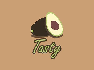 Inktober logo day 25 : Tasty illustrator branding brand logo vector green food tasty avocado inktober