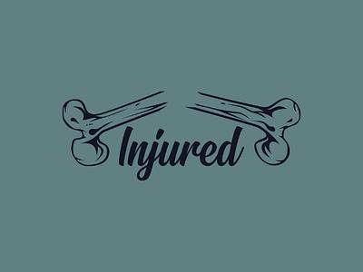 Inktober logo day 29 : Injured broken bones injured illustrator vector brand logo inktober
