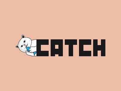 Inktober logo day 30 : Catch branding brand design graphic catch illustrator vector logo inktober cat