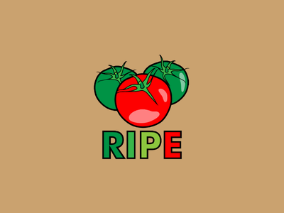 Inktober logo day 31 : Ripe branding brand design graphic tomato illustrator vector logo inktober ripe