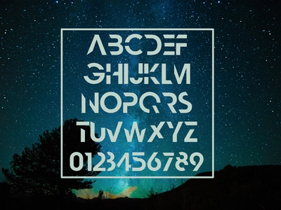 Nescient - Custom Bold only Abstract Font bold design vector typo typography font abstract custom