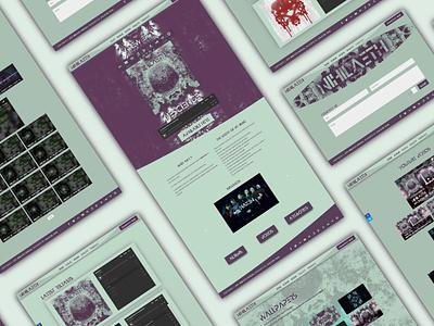 Nihilaeth Website Remade for new EP music player site design wordpress theme wordpress development wordpress design wordpress web design webdesign website