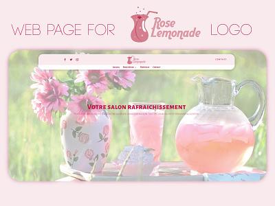 Rose lemonade Web Page brand lemonade cafe logo website design webdesign website