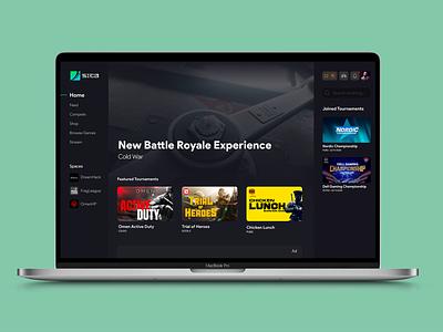 Sica Gaming Platform art web website app ux ui minimal flat design gaming app gaming