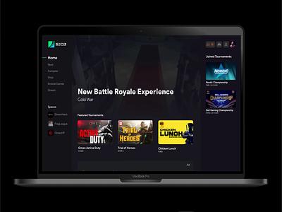 Sica Home Page website web minimal flat design app ux ui gaming app gaming