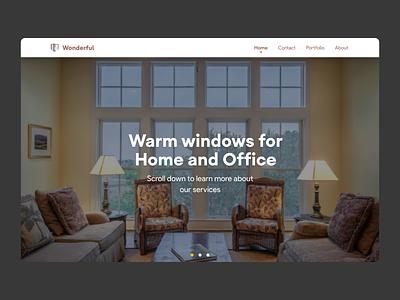 Wonderful Windows Company animation app minimal flat ux ui design building website web windows