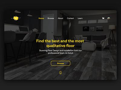 Floor Selling Website website web animation ui minimal flat ux design