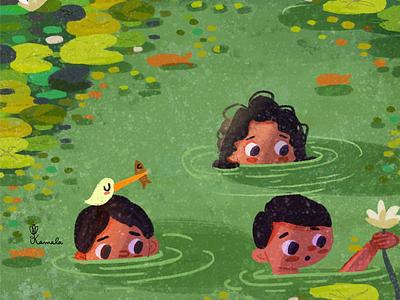 Kerala Days nature illustration illustrators childrens book art kid lit