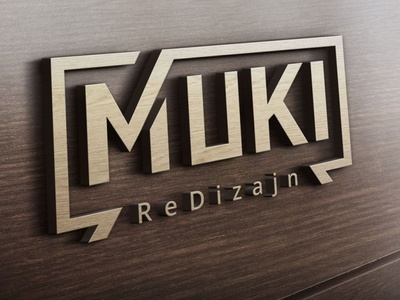 Muki redizajn logotype closet furniture logo vector art print design print wooden logo wooden wood logodesign logotype furniture design furniture typography vector illustration branding design logo muki redizajn