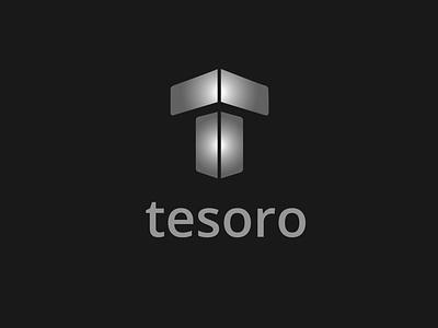 Tesoro logo silver letter logo lettering letter typo typogaphy designer graphic design graphic inspiration print design typography vector branding illustration logo design