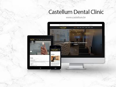 Castellum Dental Clinic website front-end development frontend web designer web development development develop mockup ui design ux design dentist theme web website dental clinic wordpress ux ui design josip markovic boza design