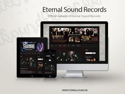Eternal Sound Records website design & development ux ui ux design ui design ui  ux twenty twelve eternal sound records josip markovic boza design web developer web development css html cms wordpress design web website web design