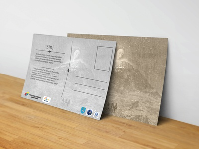 Sinj Tourist Board postcard design