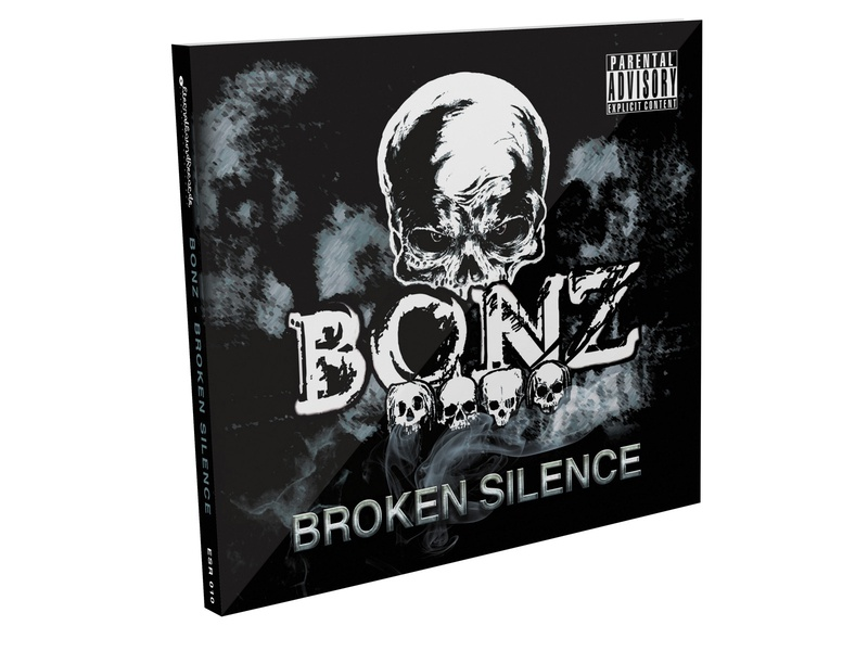 Bonz - Broken silence cd print preparation skull skulls print preparation print design boza design music band booklet jewelcase digipak front cover cd cd packaging cd cover design cd design cd art cd artwork cd cover broken silence bonz