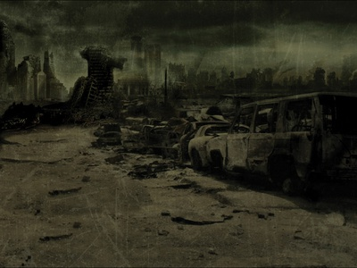 Apocalypse buildings building cars web background band artwork photo edit josip markovic boza design movie photography book of eli digital artwork digital artist digital art photo retouching photo retouch photo manipulation end of the world disaster apocalypse