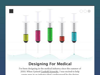 Designing For Medical syringe medical healthcare article chart graph health doctor medicine shot