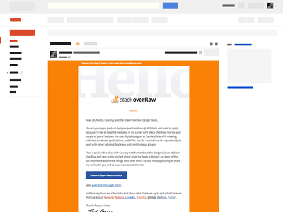 HTML Email Cover Letter recruiting application resume job newsletter html email template email